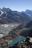 Vue de Gokyo Ri Photo stock