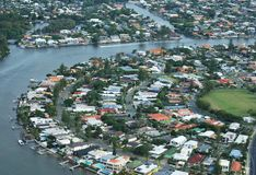 Vue de Gold Coast Images libres de droits