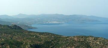 Vue de Golfe de Mirabello Photographie stock