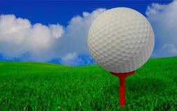 vue de golfeurs Photographie stock libre de droits