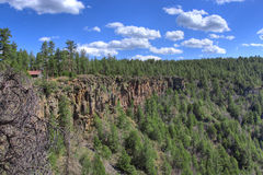 Vue de gorge Arizona, Etats-Unis de crique de chêne Image stock