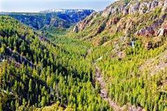 Vue de gorge de crique de chêne, nord de Sedona Images libres de droits