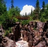 Vue de gorge de rivière Images libres de droits