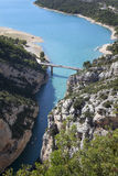Vue de Gorges du Verdon en France Photo stock