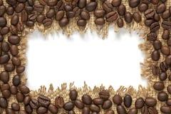 Vue de grain de café avec l'endroit vide pour votre texte Images libres de droits
