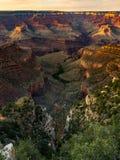 Vue de Grand Canyon, région indienne de jardin, coucher du soleil photographie stock