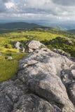 Vue de Grayson Highlands State Park de la traînée appalachienne Images libres de droits