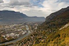 Vue de Grenoble Images libres de droits
