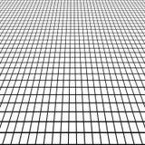 Vue de grille de perspective sous un angle, vue blanche de grille de carrelage de fond de l'homme Images libres de droits