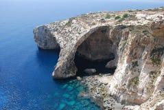 Vue de grotte bleue Photographie stock libre de droits