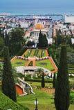 Vue de Haïfa, jardins de Bahai et tombeau du Bab Images stock