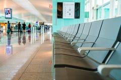 Vue de Hall d'intérieur d'aéroport Photos stock