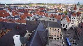 Vue de hall de ville nouvelle de la Bavière de Munich Marienplatz photo libre de droits