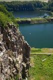 Vue de Hammeren au sud. Bornholm. Le Danemark images libres de droits