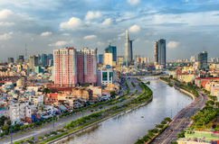 Vue de Ho Chi Minh City images stock