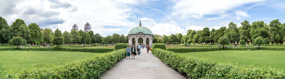 Vue de Hofgarten, Munich Images stock