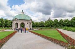Vue de Hofgarten, Munich Juin 2016 Images libres de droits