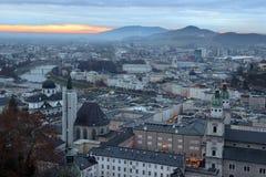 Vue de Hohensalzburg sur Salzbourg photo stock