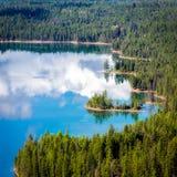 Vue de Holland Lake Photo libre de droits