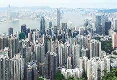 Vue de Hong Kong central photo stock