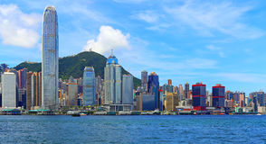 vue de Hong Kong de port Photographie stock libre de droits