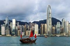 Vue de Hong Kong de Victoria Harbor Photo stock