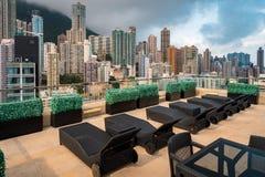 Vue de Hong Kong du secteur de repos supérieur de toit photo libre de droits