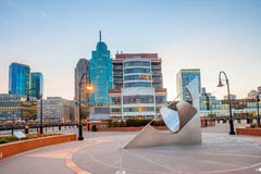 Vue de Hudson River Waterfront Walkway, Jersey City Images libres de droits