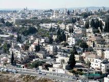 Vue de Jérusalem des maisons et des églises du mont Scopus 2010 Image libre de droits