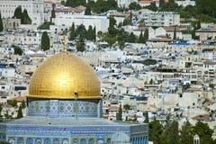 vue de Jérusalem et de temple Image stock
