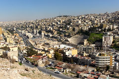 Vue de Jabal Amman, Jordanie Photo stock