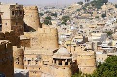 Vue de Jaisalmer d'or de fort de ville au Ràjasthàn, Inde, Asie Photos stock