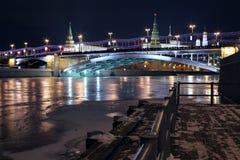 Vue de janvier vers Moscou Kremlin Photographie stock libre de droits