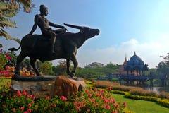 Vue de jardin dans Muang Boran, Thaïlande image libre de droits