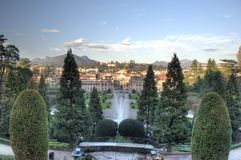 Vue de jardin Estensi à Varèse Image libre de droits