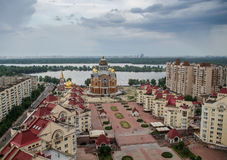 Vue de jour de cherch d'Obolon, Kiev, Ukraine Photo stock