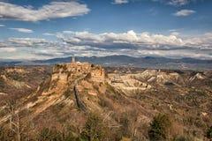 Vue de jour de Civita di Bagnoregio, Latium, Italie Image stock