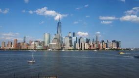 Vue de jour des horizons de New York photographie stock