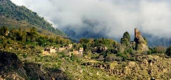 Vue de jour du château chez Danba Sichuan Chine Photo stock