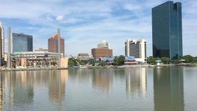 vue de 4K UltraHD de Toledo, Ohio un jour ensoleillé banque de vidéos