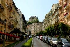 Vue de Karlovy Vary Photographie stock libre de droits