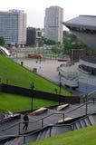 Vue de Katowice de centre de Conférence Internationale Images stock