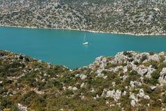 Vue de Kekova vue de Kalekoy, Antalya. Photos stock