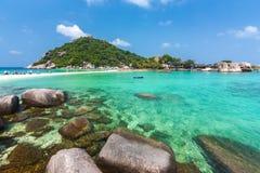 Vue de Koh Nangyuan en Thaïlande Photo stock