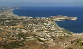 Vue de Kolimbia Rhodes photos libres de droits