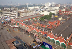 Vue de Kolkata et de marché, Kolkata, Inde Images libres de droits