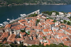 Vue de Kotor Habrour Photos stock
