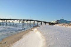 Vue de Kure BeachPier Photo stock