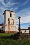 Vue de l'église de Chinchero Images stock