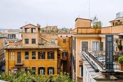 Vue de l'église du dei Monti de Trinita aux étapes espagnoles Photo stock